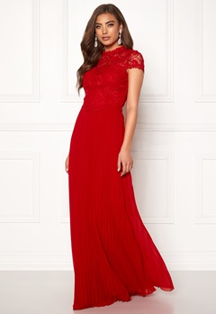 Moments New York Kassia Crochet Gown Red Bubbleroom.no