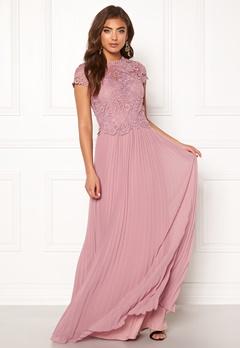 Moments New York Kassia Crochet Gown Dusty lilac Bubbleroom.no