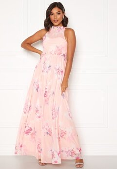 Moments New York Lavender Floral Gown Floral Bubbleroom.no