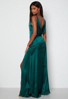 Moments New York Laylani Satin Gown Dark green Bubbleroom.no