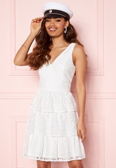 Moments New York Lemonie Lace Dress White Bubbleroom.no