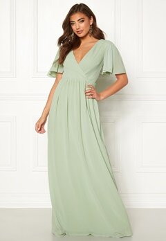 Moments New York Liana Chiffon Gown Light green Bubbleroom.no