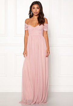 Moments New York Lily Draped Gown Dusty pink Bubbleroom.no