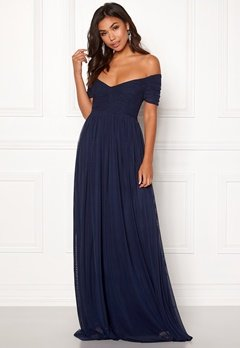 Moments New York Lily Draped Gown Dark blue Bubbleroom.no
