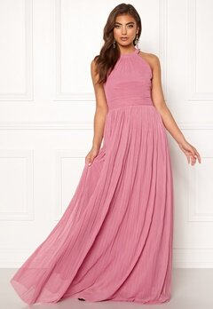 Moments New York Linnea Pleated Gown Dusty pink Bubbleroom.no