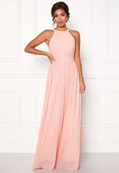 Moments New York Linnea Pleated Gown Light pink Bubbleroom.no