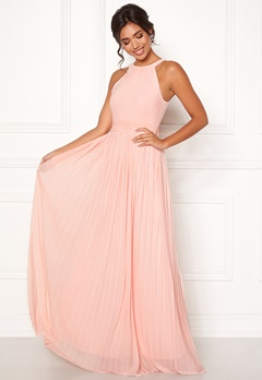 Moments New York Linnea Pleated Gown Rosa Bubbleroom.no