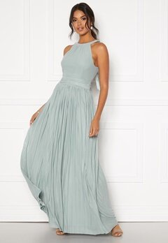 Moments New York Linnea Pleated Gown Jade-green Bubbleroom.no