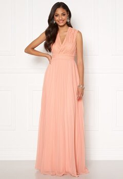 Moments New York Loana Crochet Gown Light pink Bubbleroom.no
