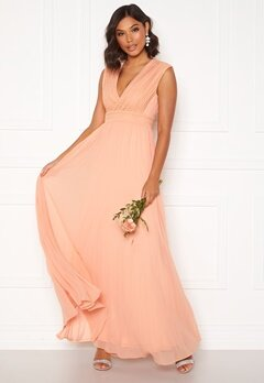 Moments New York Loana Crochet Gown Light pink Bubbleroom.no