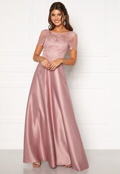 Moments New York Madeleine Satin Gown Light lilac Bubbleroom.no