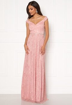 Moments New York Melina Lace Gown Light pink Bubbleroom.no