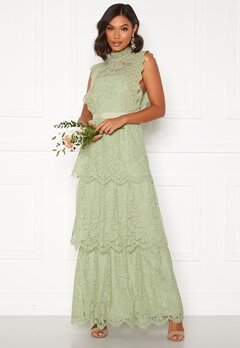 Moments New York Olivia Crochet Gown Green Bubbleroom.no