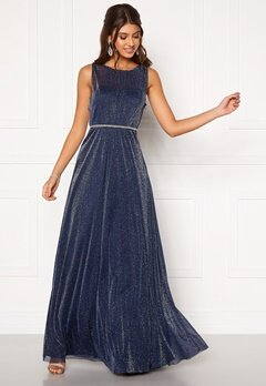 Moments New York Ophelia Lurex Gown Navy Bubbleroom.no