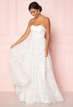 Moments New York Peony Wedding Gown White Bubbleroom.no