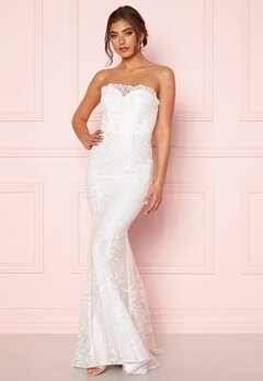 Moments New York Petal Wedding Gown White Bubbleroom.no