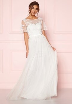 Moments New York Rosalie Wedding Gown White Bubbleroom.no