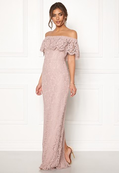 Moments New York Rose Lace Gown Dusty lilac Bubbleroom.no