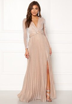 Moments New York Sienna Lurex Gown Champagne Bubbleroom.no