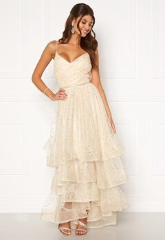 Moments New York Sophia Mesh Gown Champagne Bubbleroom.no
