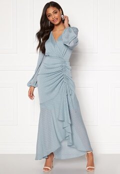 Moments New York Thea Dotted Gown Light blue Bubbleroom.no