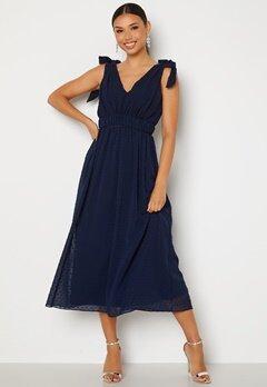 Moments New York Theodora Dotted Dress Dark blue bubbleroom.no