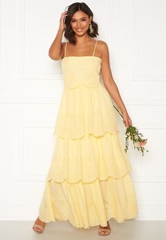 Moments New York Vera frill gown Light yellow Bubbleroom.no
