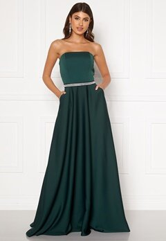 Moments New York Victoria Satin Gown Emerald green Bubbleroom.no