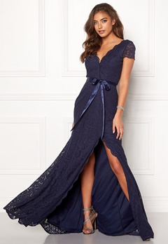 Moments New York Viola Lace Gown Dark blue Bubbleroom.no
