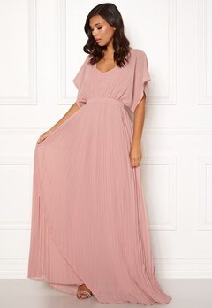 Moments New York Violet Chiffon Gown Dusty pink Bubbleroom.no