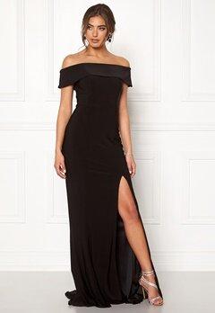 Moments New York Zahara Bardot Gown Black Bubbleroom.no
