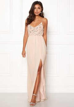 Moments New York Zinnia Beaded Gown Champagne Bubbleroom.no