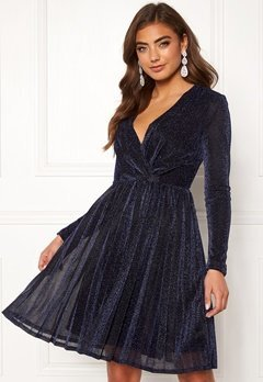 Moments New York Poppy Sparkle Dress Navy Bubbleroom.no