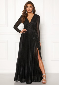 Moments New York Sienna Lurex Gown Black Bubbleroom.no