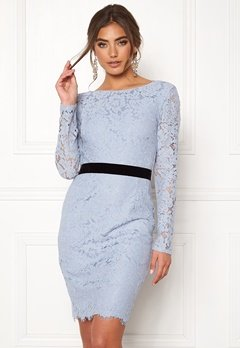 Moments New York Romy Lace Dress Grey-blue Bubbleroom.no