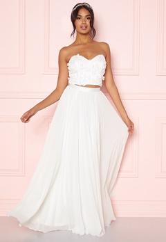 Moments New York Zaria Pleated Skirt White Bubbleroom.no