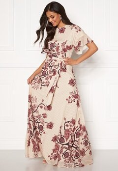 Moments New York Maja Printed Gown Floral Bubbleroom.no