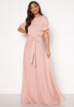 Moments New York Maja Dotted Gown Pink Bubbleroom.no