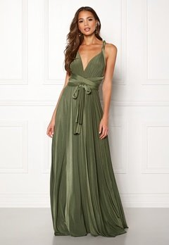 Goddiva Multi Tie Maxi Dress Olive Green Bubbleroom.no