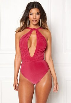 Goddiva Multi Tie Swimsuit Pink Bubbleroom.no