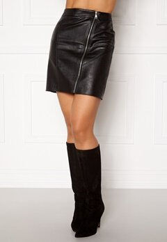 Rut & Circle Nellie PU Skirt Black Bubbleroom.no