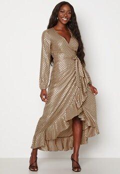 Guess New Baja Dress P16X Shiny Dots Gold bubbleroom.no