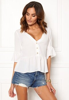 New Look Airflow Button Blouse Winter white Bubbleroom.no