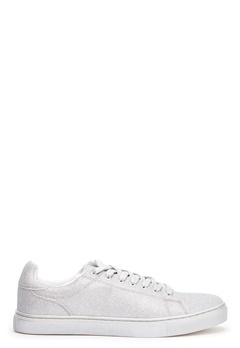 New Look All over Glitter sneakers Sølv Bubbleroom.no