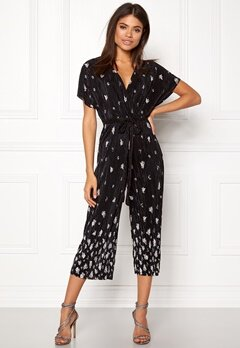 New Look Border Print Jumpsuit Black Pattern Bubbleroom.no