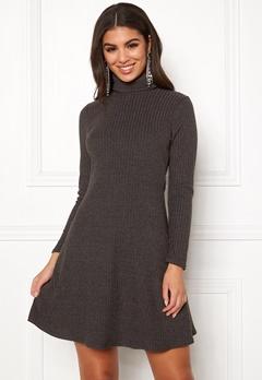 New Look Brushed Roll Neck Dress Mid Grey Bubbleroom.no