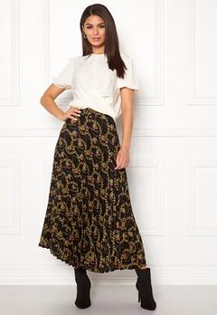 New Look Chain Print Pleat Skirt Black Pattern Bubbleroom.no