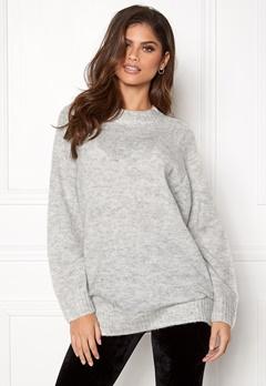 New Look Deep Raglan Knit Tunic Pale Grey Bubbleroom.no