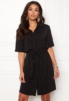 New Look Drawstring Shirt Dress Black Bubbleroom.no