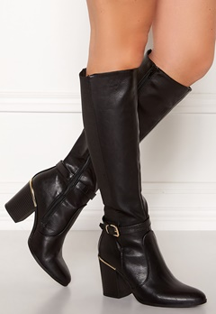 New Look Edwin Heeled Riding Boot Black Bubbleroom.no